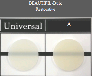Beautifil Bulk Restorative Chart